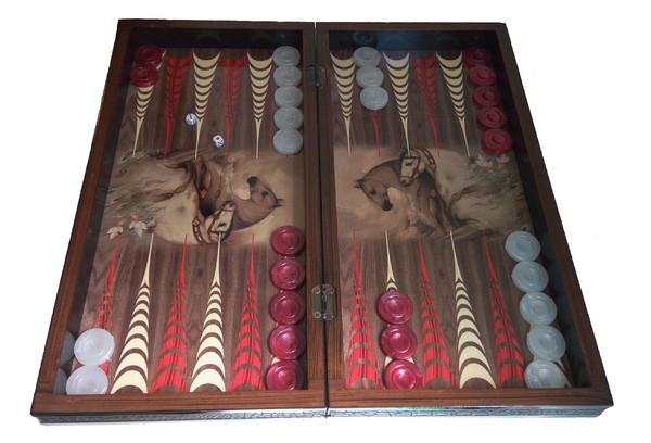 Шах и табла - комплекти само с пулове и зарчета