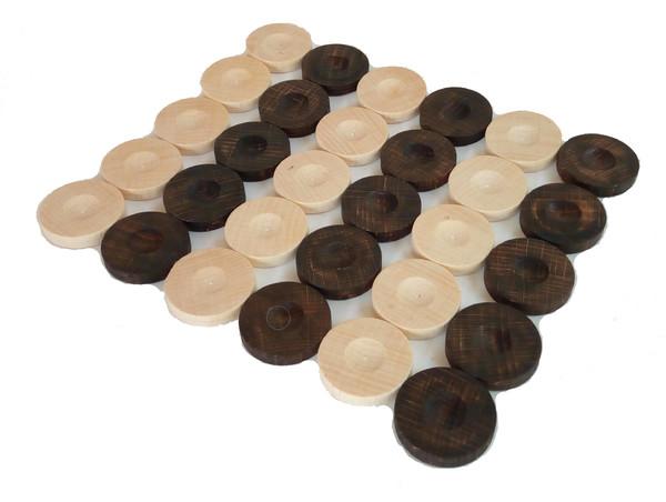 5лв. Дървени пулове за табла