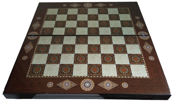 Шах и табла, Седефена, 48х48