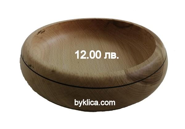 12.00 лв. Дървен съд - дълбока купа с диаметър 21 см.