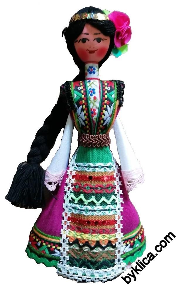21.00 лв. Сувенир от България Дървена кукла с фолклорна носия
